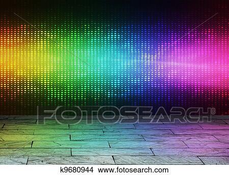 ディスコ 背景 イラスト K9680944 Fotosearch