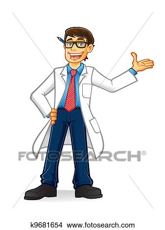 Clipart of Lab Geek Man k9681654 - Search Clip Art, Illustration ...