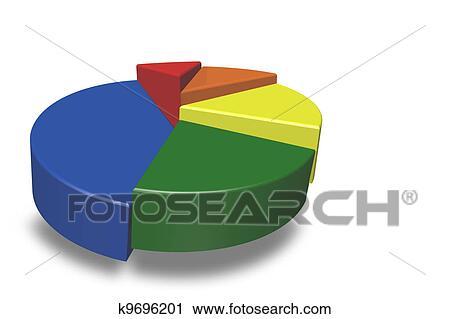 Clipart Of Empty 3d Pie Chart K9696201 Search Clip Art