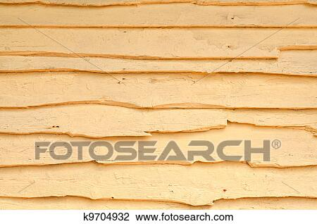Stock Photo Of Old Yellow Painted Wooden Wall K9704932