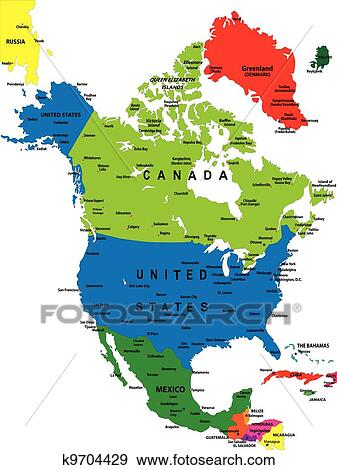 clip art political map of north america fotosearch search clipart illustration posters