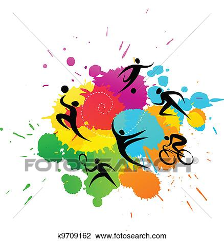 clipart of sport background colorful vector illustration k9709162
