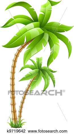 Exotique palmiers clipart k9719642 fotosearch - Palmier clipart ...