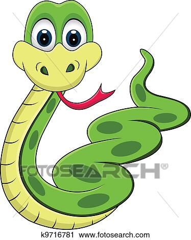 Illustration of funny snake cartoon