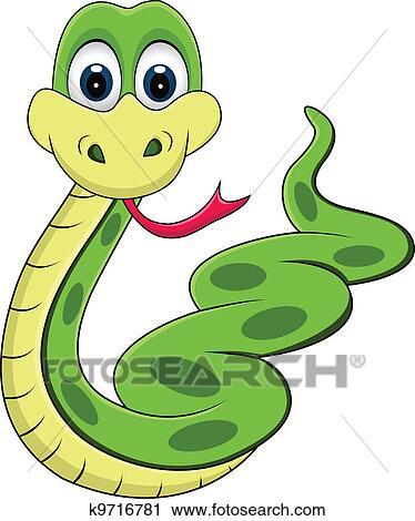 Rigolote serpent dessin anim clipart k9716781 fotosearch - Dessin de vipere ...