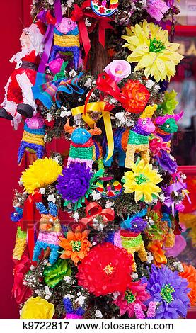 Picture of Mexican Christmas Tree Decorations Old San Diego Town ...