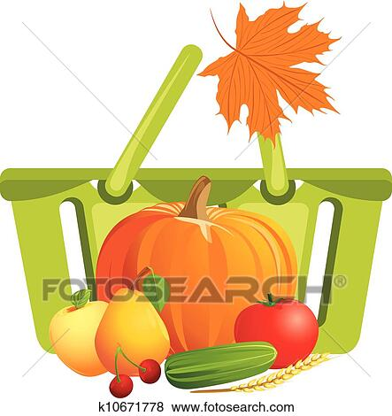 إصابة في كرة السلة ب فواكه و نباتات Clip Art K10671778 Fotosearch