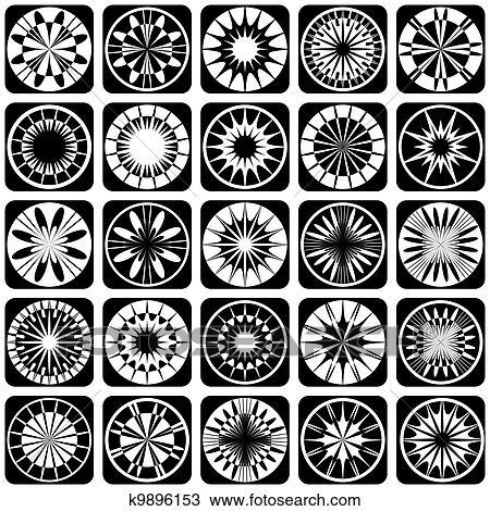 التصميم الزخرفي Elements إقتدى Clipart K9896153 Fotosearch