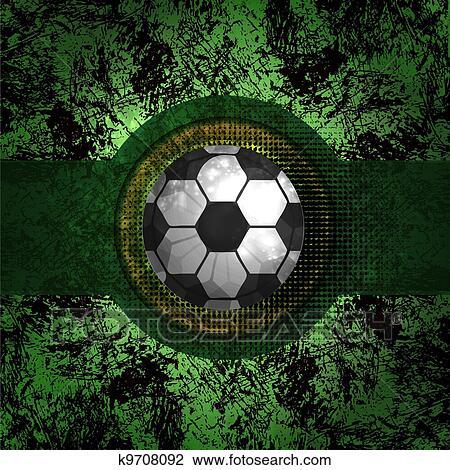 الكرة القدم خلفيات التصميم الرسم K9708092 Fotosearch