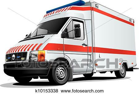 سيارة إسعاف سيارة Clip Art K10153338 Fotosearch