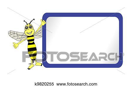 かわいい 蜂 で 青 掲示板 イラスト K Fotosearch
