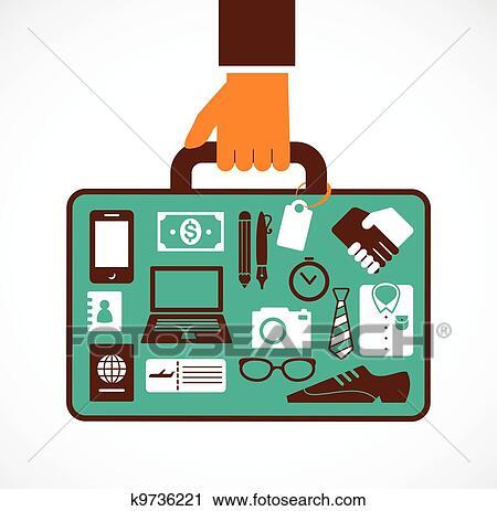 ビジネス 旅行 イラスト 人 で スーツケース クリップアート