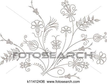ベクトル 花 デザイン 花 装飾 植物 パターン イラスト