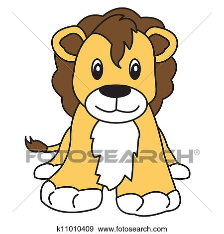 ライオン かわいい 動物 イラスト K11010409 Fotosearch