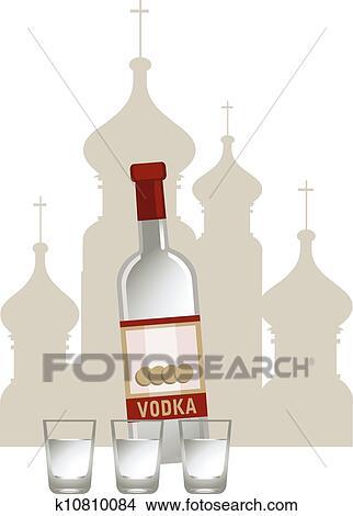 ロシア人 ウォッカ クリップアート切り張りイラスト絵画集