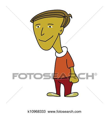 地位 かわいい 男の子 漫画 イラスト スケッチ K10968333