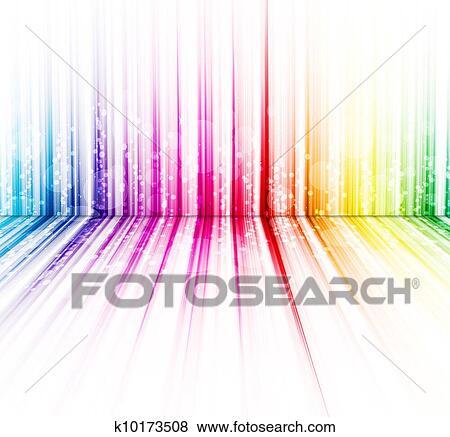 抽象的 レインボー色 上に A 白い背景 スペクトル イラスト