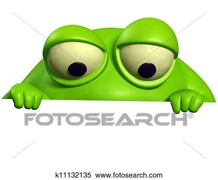 緑モンスター イラスト K11132135 Fotosearch