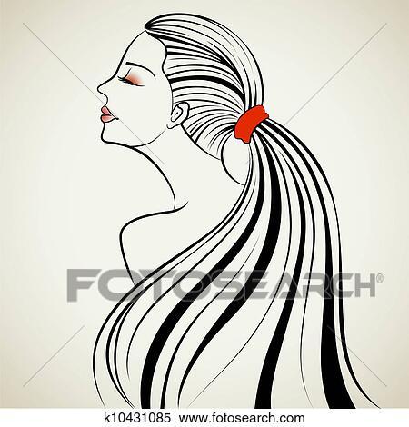 美しい 女性 クリップアート切り張りイラスト絵画集