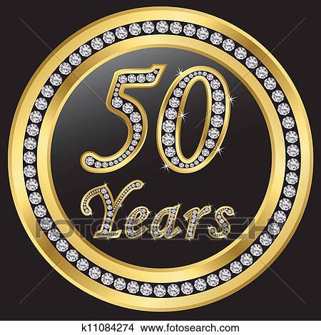 Clipart 50 Anni Anniversario Felice Birthda K11084274 Cerca