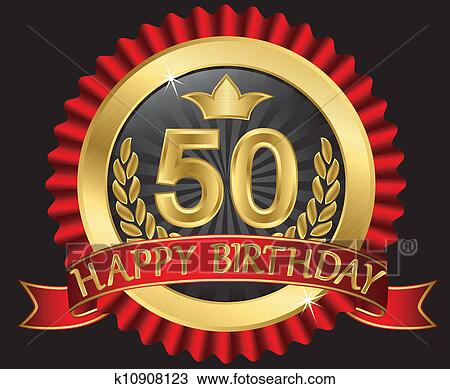 clipart 50 jahre alles gute geburtstag goldenes labe. Black Bedroom Furniture Sets. Home Design Ideas