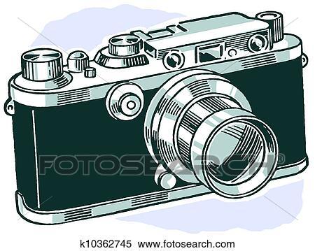 A 型のカメラ イラスト K10362745 Fotosearch