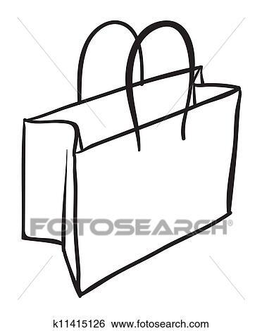 Clip Art Of A Bag Sketch K11415126
