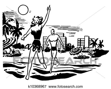 Stock Illustration Of A Black And White Version Of An Illustration