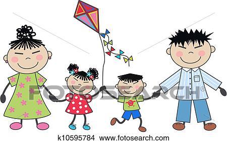 Happy Family Stock Vector Illustration And Royalty Free Happy Family Clipart