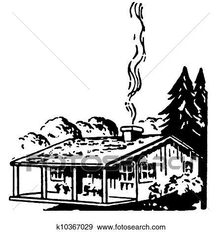 banque d 39 illustrations a noir blanc version de a petit maison ferme a chemin e. Black Bedroom Furniture Sets. Home Design Ideas