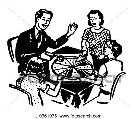 Stock Illustration A Schwarz Weiß Version Von A Familie