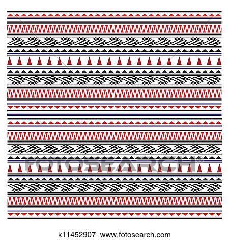 Stock Illustration Abbildung Von Maori Symbole Muster