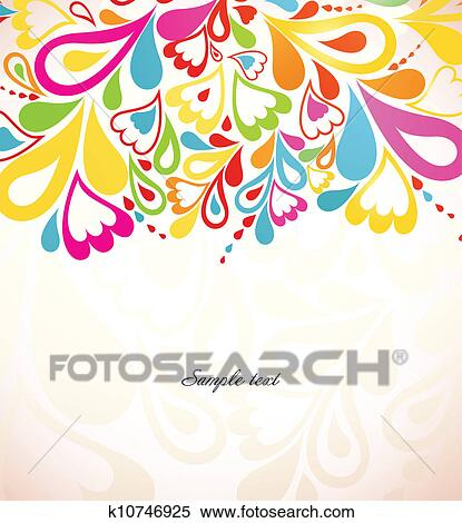 Abstract Colorful Background Vector Illustration Clipart