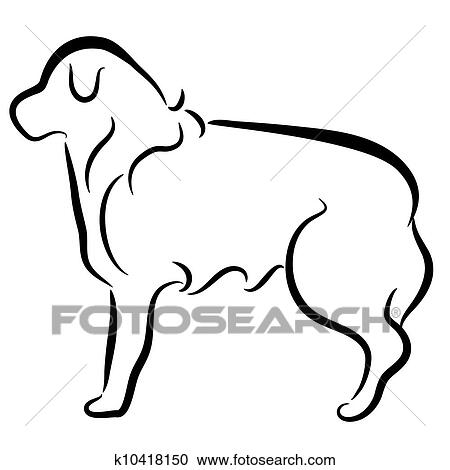 clipart of abstract elegant border collie dog profile k10418150 rh fotosearch com elegant clip art free images elegant clipart for baby shower princess