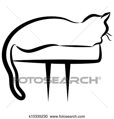 clipart of abstract elegant cat sitting on perch k10335230 search rh fotosearch com elegant clipart free elegant clip art free images