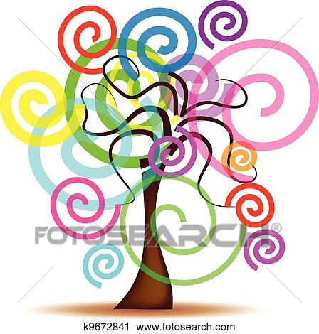 Abstract Tree Clipart K9672841 Fotosearch