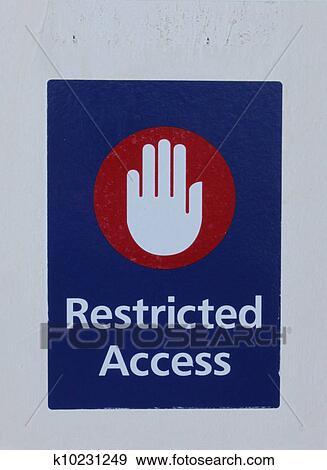 Coleccin de ilustraciones acceso restringido seal en azul coleccin de ilustraciones acceso restringido seal en azul fotosearch buscar altavistaventures Gallery