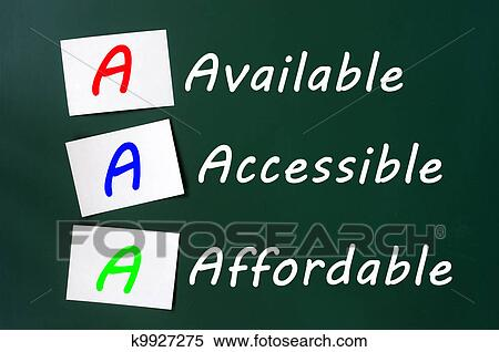 Stock Image Of Acronym Of Aaa For Available Accessible And