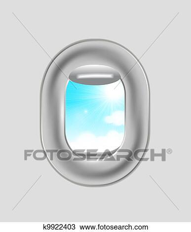 Airplane Window Drawing K9922403 Fotosearch