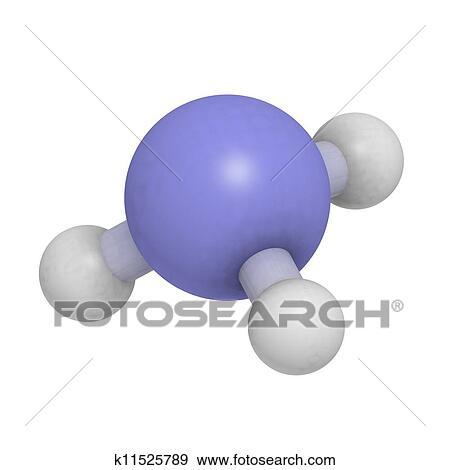 Ammoniak Nh3 Molekül Chemische Struktur Stock Illustration