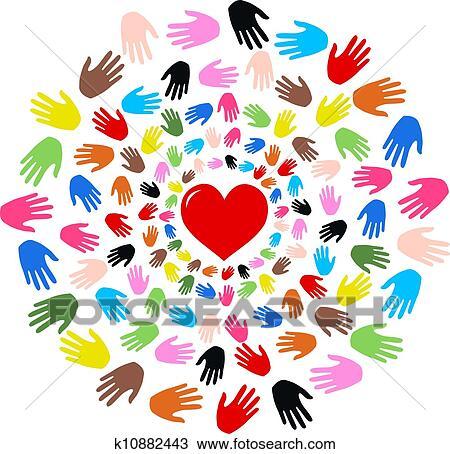 Amitié Dessin dessin - amour, liberté, paix, amitié k10882443 - recherchez des