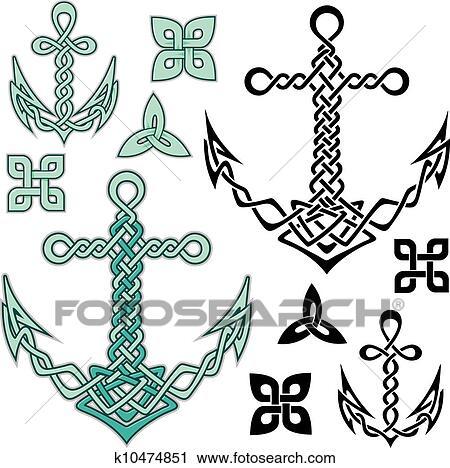 Dessin Celtique clipart - ancre, celtique k10474851 - recherchez des clip arts, des