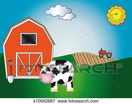 Animale fattoria cartone animato archivio illustrazioni
