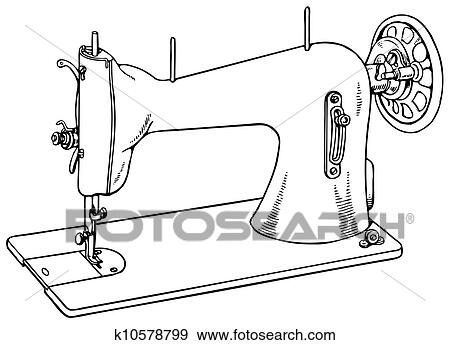 Antigas Maquina De Costura Clipart K10578799 Fotosearch