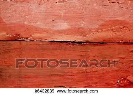 Stock Fotograf Antikisiert Verwittertes Holz Malen In Rot