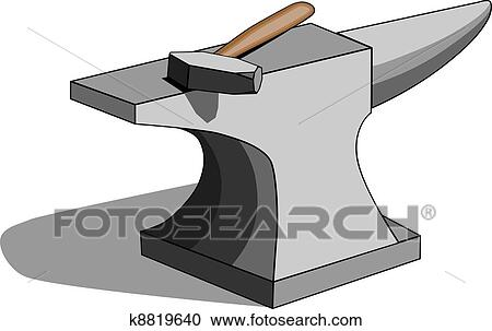 Anvil and hammer Clipart