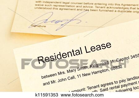 Apartment keys and rental agreement Stock Image
