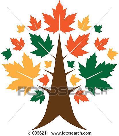 clipart of autumn tree icon k10336211 search clip art rh fotosearch com autumn apple tree clipart autumn tree clip art black and white