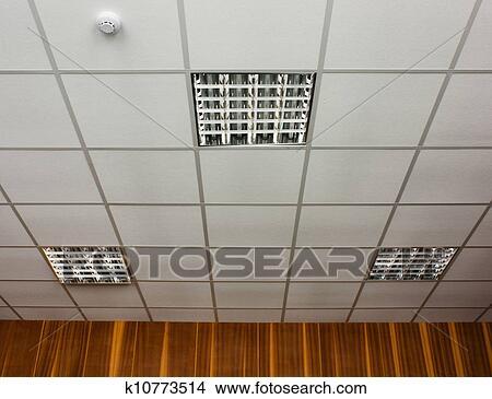 Stock Foto   Büro, Decke, Mit, Lampen. Fotosearch   Suche Stockbilder,