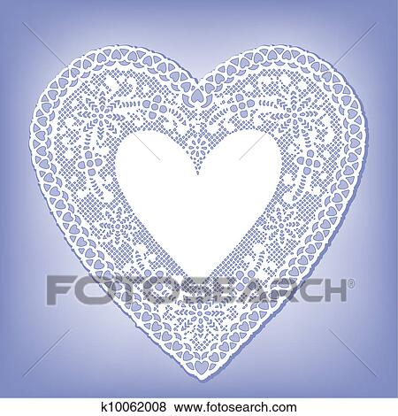 Klip Art Bağcık Bardak Altliği Peçete Kalp üstünde Pastel Boya